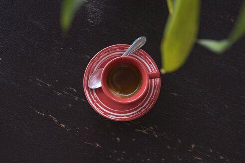 Cup of coffee on dark wood - AFVF00133