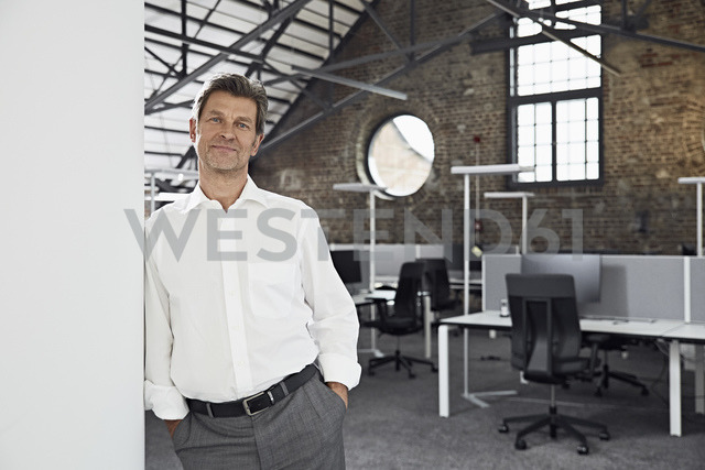 Portrait of mature businessman in modern office - PDF01527