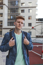 Portrait of redheaded young man outdoors - VPIF00348