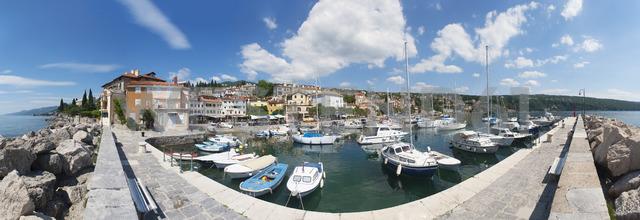 Croatia, Istria, Adria, Kvarner Gulf, Volosko, harbour - WWF04185