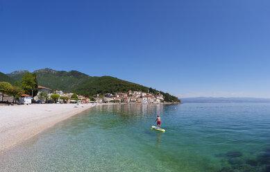 Croatia, Istria, Adria, Kvarner Gulf, Moscenicka Draga, beach - WWF04191
