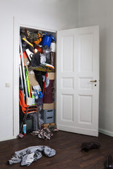 A closet stuffed with various storage items - FSIF02871