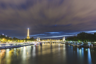 France, Ile-de-France, Paris, panoramic view of the city at night - WPEF00123
