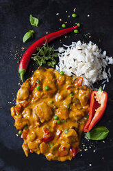 Thai Curry with chicken filets and basmati rice - CSF28984
