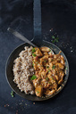 Jackfruit goulash with spelt rice in pan - CSF28990