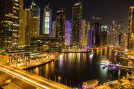 United Arab Emirates, Dubai, Dubai Marina at night - ZEF15025