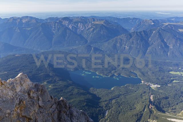 Austria, Germany, Bavaria, Zugspitze, View of Eibsee - FOF09858