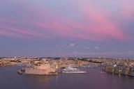 Malta, Valletta, Harbour, afterglow - FCF01346