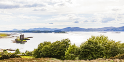 United Kingdom, Scottish Highlands, Glencoe, Castle Stalker, Loch Laich - WDF04449