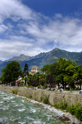 Italy, South Tyrol, Meran, Kurhaus, Passer river - LBF01797