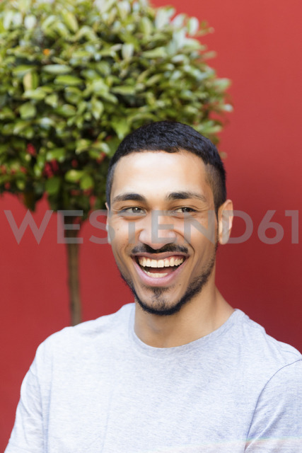 Portrait of laughing man outside - LFEF00082