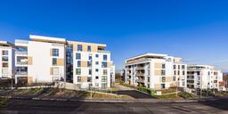 Germany, Baden-Wuerttemberg, Stuttgart, modern multi-family houses - WDF04471