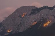 Austria, Tyrol, Zugspitze, midsummer fire - FOF09923