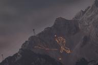 Austria, Tyrol, Zugspitze, midsummer fire - FOF09926
