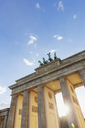 Germany, Berlin, Brandenburger Tor at back light - GWF05446