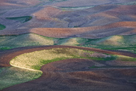 Aerial view of rolling landscape - CAIF00422