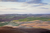 Aerial view of rolling landscape - CAIF00425