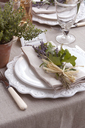 Table setting for wedding reception - CAIF00744