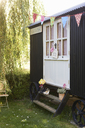 Bunting and wedding decorations outdoors - CAIF00750