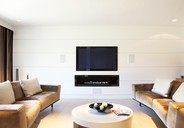 Sofa and television in modern living room - CAIF01002