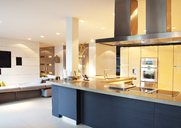 Kitchen and living room in modern home - CAIF01008