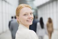 Close up portrait of smiling businesswoman - CAIF01128