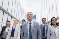 Confident business people looking ahead - CAIF01131