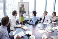 Businesswoman talking in meeting - CAIF01655