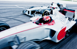 Race cars driving on track - CAIF01805