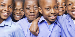 Students smiling together - CAIF02493