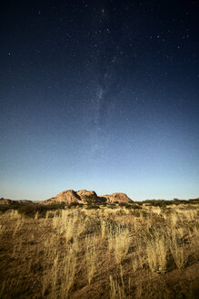 Africa, Namibia, Spitzkoppe and starry sky - CVF00194