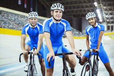 Track cycling team in velodrome - CAIF03752