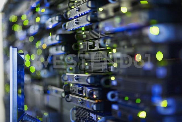Close up server room rack panel - HOXF00818