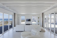 White living room in home showcase beach house - HOXF00947