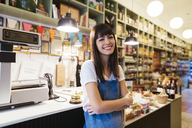 Portrait of smiling woman in a store - EBSF02210