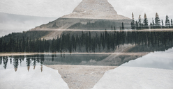Canada, British Columbia, Yoho Lake, Yoho National Park, Wapta Mountain, Rocky Mountains, multiple exposure - GUSF00336