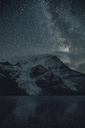 Canada, British Columbia, Rocky Mountains, Mount Robson Provincial Park, Fraser-Fort George H, Berg Lake, Berg Glacier, Mist Glacier at night - GUSF00348