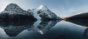 Canada, British Columbia, Rocky Mountains, Mount Robson Provincial Park, Fraser-Fort George H, Berg Lake, Berg Glacier - GUSF00351
