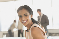 Portrait smiling, confident businesswoman - HOXF01210