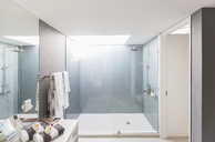 Modern luxury home showcase interior bathroom with shower - HOXF02122