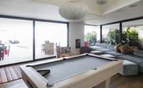 Pool table in luxury home showcase interior - HOXF02392