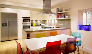 Modern kitchen and dining table - HOXF03190