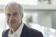 Close up portrait confident senior businessman - HOXF03235