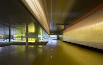 Illuminated architectural modern office lobby - CAIF04599