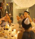 Friends celebrating at party - CAIF04861