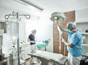 Veterinary practice, preparation of an operation - CVF00261