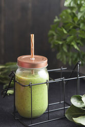 Glass of vegetable smoothie - SKCF00345