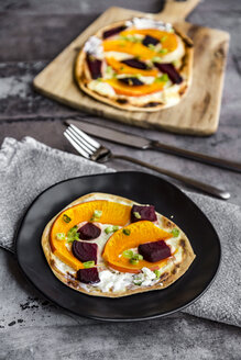 Homemade pizza with pumpkin and beetroot - SARF03595