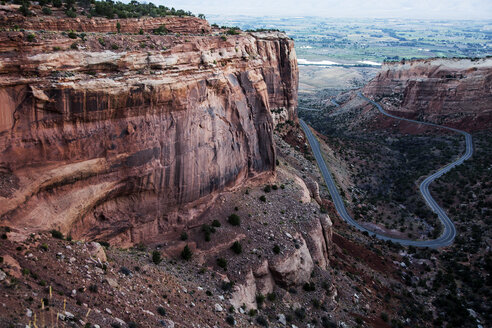Rock formation, Colorado National Monument, Colorado, United States - CAIF07602