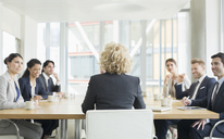 Business people talking in meeting - CAIF08024